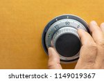 close up of a safe lock and... | Shutterstock . vector #1149019367