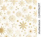 snowflake gold pattern. glitter ... | Shutterstock .eps vector #1149056297