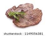 grilled bio beef steaks with... | Shutterstock . vector #1149056381