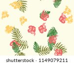 tropical background. green ... | Shutterstock .eps vector #1149079211