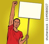 afrikan man protests with a... | Shutterstock .eps vector #1149080027