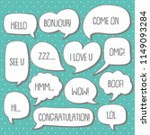 set of cute  bubble speech... | Shutterstock .eps vector #1149093284
