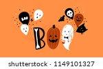 halloween hand drawn... | Shutterstock .eps vector #1149101327