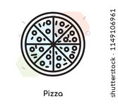 pizza icon vector isolated on... | Shutterstock .eps vector #1149106961