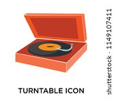 turntable icon vector isolated... | Shutterstock .eps vector #1149107411