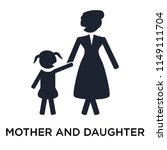 mother and daughter icon vector ... | Shutterstock .eps vector #1149111704