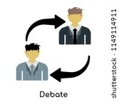 debate icon vector isolated on... | Shutterstock .eps vector #1149114911
