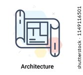 architecture icon vector... | Shutterstock .eps vector #1149116501