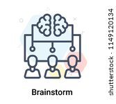 brainstorm icon vector isolated ... | Shutterstock .eps vector #1149120134