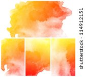 set of colorful abstract water... | Shutterstock . vector #114912151
