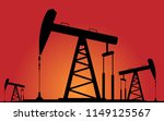 working oil pumps silhouette... | Shutterstock .eps vector #1149125567