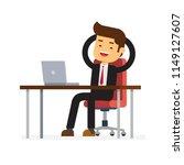 businessman relax in office | Shutterstock .eps vector #1149127607