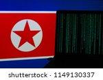 computer hacking in front of... | Shutterstock . vector #1149130337