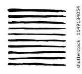 black straight vector brush....   Shutterstock .eps vector #1149134054