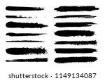 set of hand drawn brush strokes.... | Shutterstock .eps vector #1149134087
