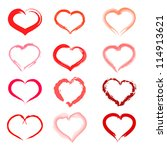 set of hearts. set of hearts... | Shutterstock .eps vector #114913621