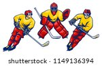 ice hockey player in action... | Shutterstock .eps vector #1149136394