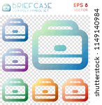 briefcase geometric polygonal... | Shutterstock .eps vector #1149140984