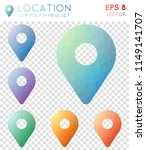 location geometric polygonal... | Shutterstock .eps vector #1149141707