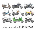 motorcycle vector motorbike or... | Shutterstock .eps vector #1149142547