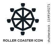 roller coaster icon vector... | Shutterstock .eps vector #1149145271