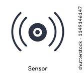 sensor icon vector isolated on...
