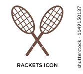 rackets icon vector isolated on ... | Shutterstock .eps vector #1149150137