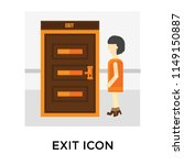 exit icon vector isolated on... | Shutterstock .eps vector #1149150887