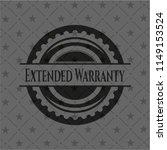 extended warranty black badge | Shutterstock .eps vector #1149153524