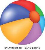 beach ball | Shutterstock .eps vector #114915541