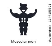 muscular man showing his... | Shutterstock .eps vector #1149155921