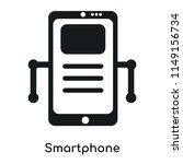 smartphone icon vector isolated ... | Shutterstock .eps vector #1149156734