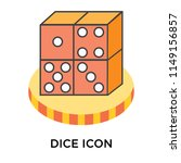 dice icon vector isolated on... | Shutterstock .eps vector #1149156857