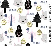 seamless pattern autumn forest... | Shutterstock .eps vector #1149157067