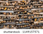 preparation of firewood for the ... | Shutterstock . vector #1149157571