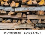preparation of firewood for the ... | Shutterstock . vector #1149157574