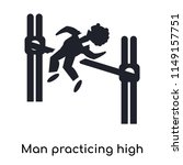 man practicing high jump icon...   Shutterstock .eps vector #1149157751