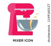 mixer icon vector isolated on... | Shutterstock .eps vector #1149160127