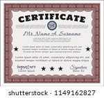 red certificate or diploma... | Shutterstock .eps vector #1149162827