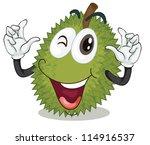 illustration of jackfruit on a... | Shutterstock . vector #114916537