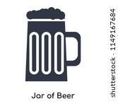jar of beer icon vector... | Shutterstock .eps vector #1149167684