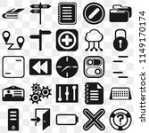 set of 25 icons such as help ...
