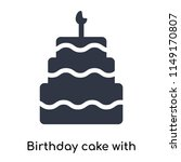 birthday cake with candles icon ... | Shutterstock .eps vector #1149170807