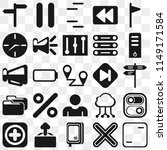 set of 25 icons such as frame ...