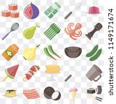 set of 25 icons such as sushi ...