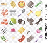set of 25 icons such as spatula ...
