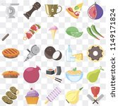 set of 25 icons such as butcher ...