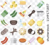 set of 25 icons such as pumpkin ... | Shutterstock .eps vector #1149171857