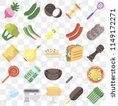 set of 25 icons such as... | Shutterstock .eps vector #1149172271