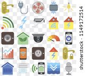 set of 25 icons such as voice...